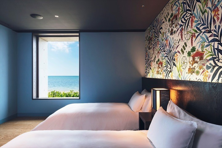 星のや沖縄 客室 寝室