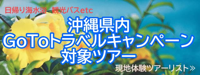 沖縄Go To トラベル キャンペーン対象県内日帰りツアー