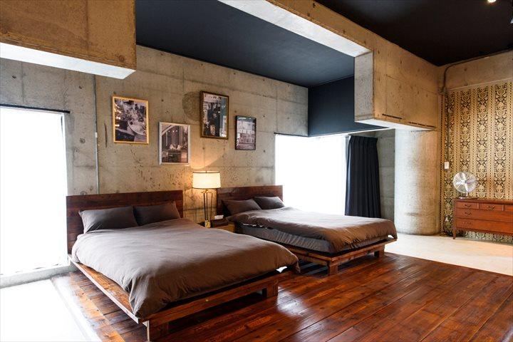 トリップショットホテルズコザ ロックサイド ベッド