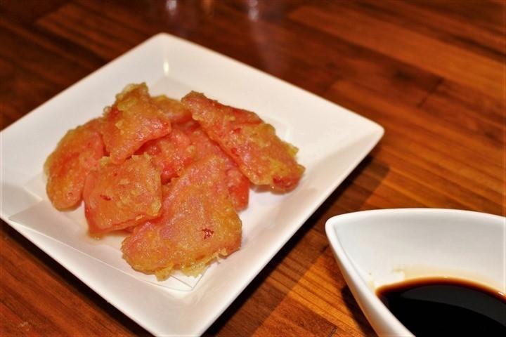コザ麦酒工房 紅ショウガの天ぷら